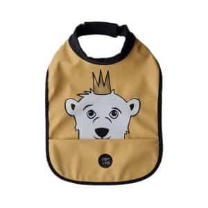 High Neck Bib – Isak The Polar Bear New Wheat