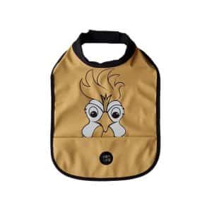 High Neck Bib – Hans The Rooster New Wheat