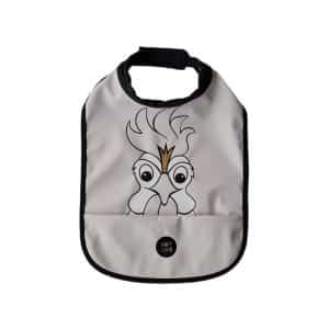 High Neck Bib – Hans The Rooster Rainy Day