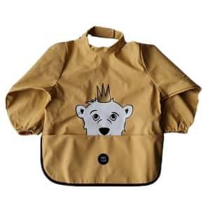Long Sleeve Bib – Isak The Polar Bear New Wheat