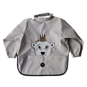 Long Sleeve Bib – Isak The Polar Bear Rainy Day
