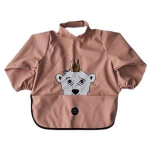 Long Sleeve Bib – Isak The Polar Bear Muted Clay